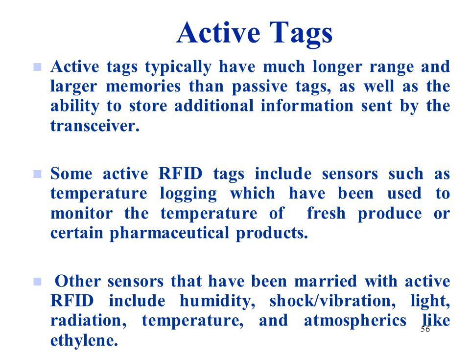 Active Tags