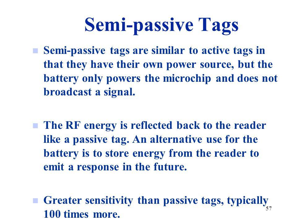 Semi-passive Tags