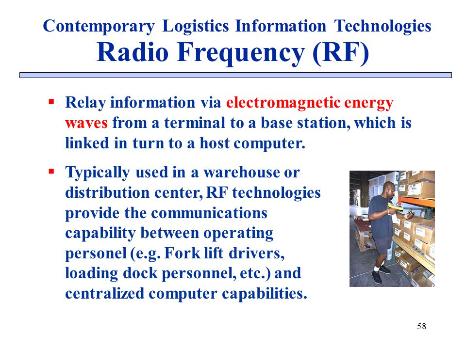Contemporary Logistics Information Technologies