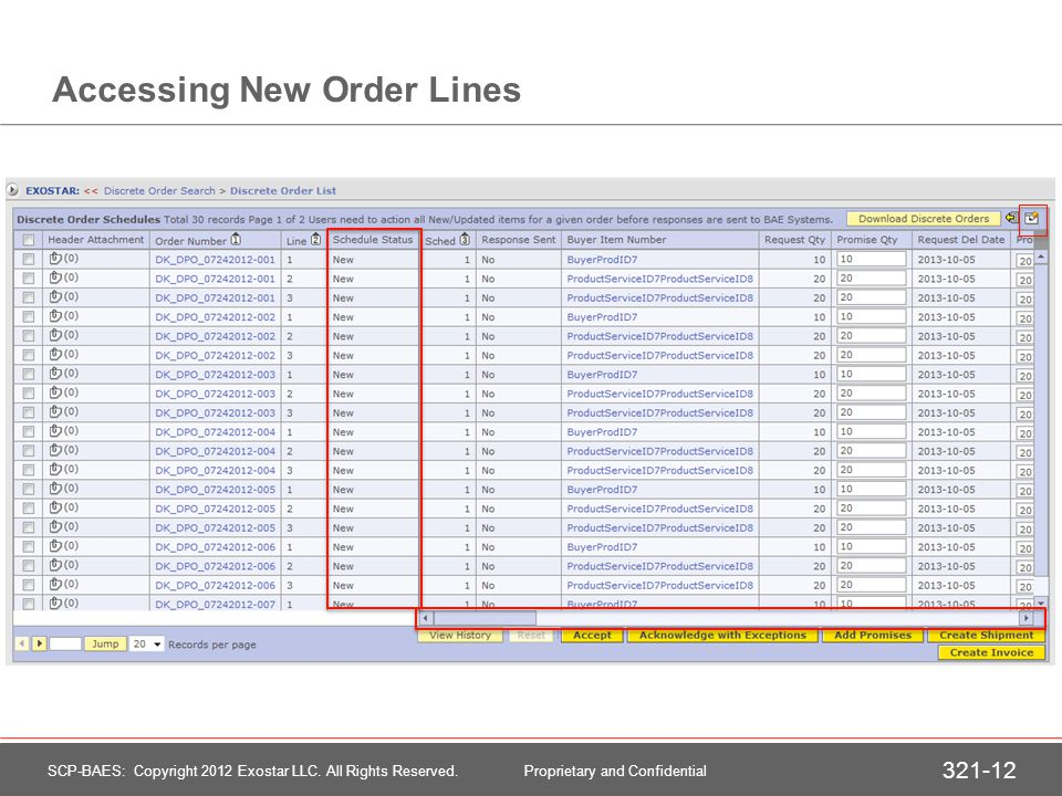 Select First New Order Accessing Purchase Order Lines 2
