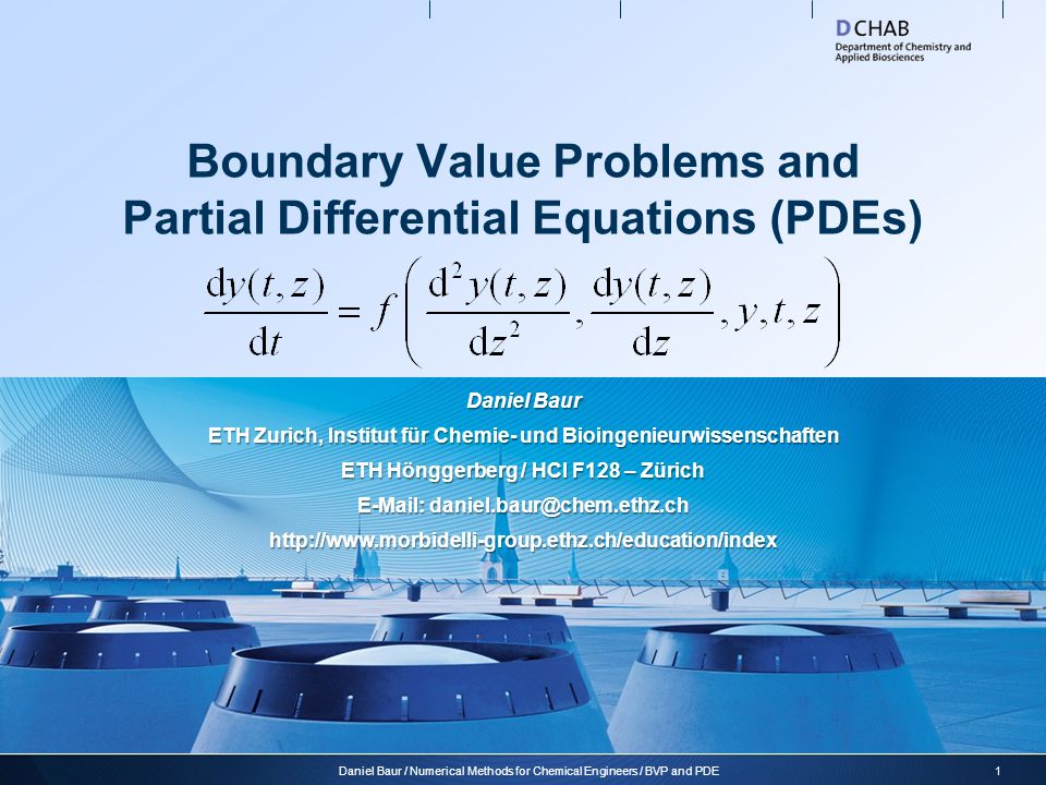 Boundary Value Problems and Partial Differential Equations (PDEs)