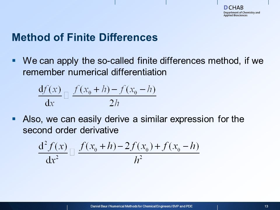 Method of Finite Differences