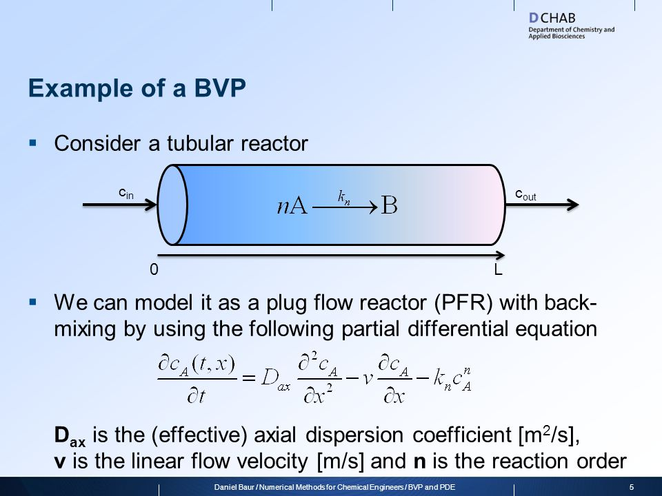 Daniel Baur / Numerical Methods for Chemical Engineers / BVP and PDE