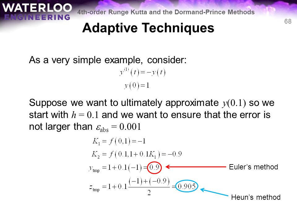Adaptive Techniques As a very simple example, consider: