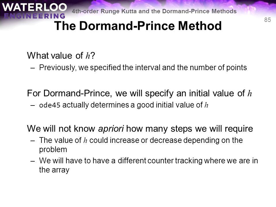 The Dormand-Prince Method