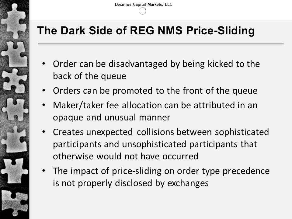The Dark Side of REG NMS Price-Sliding