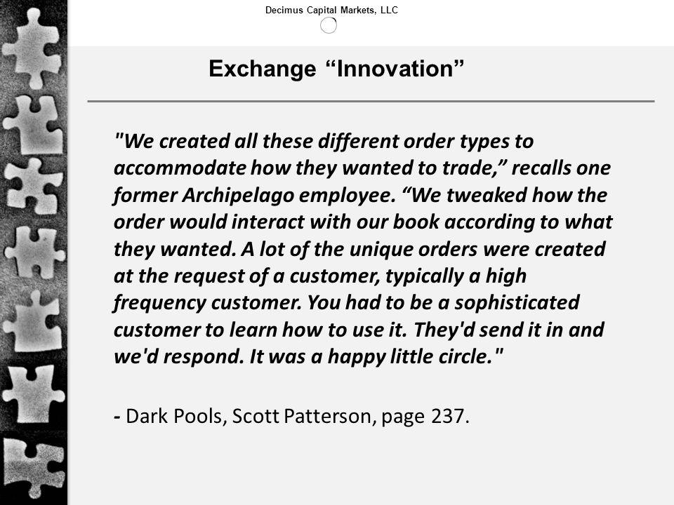 Exchange Innovation