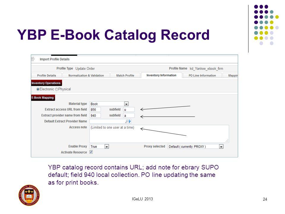 YBP E-Book Catalog Record