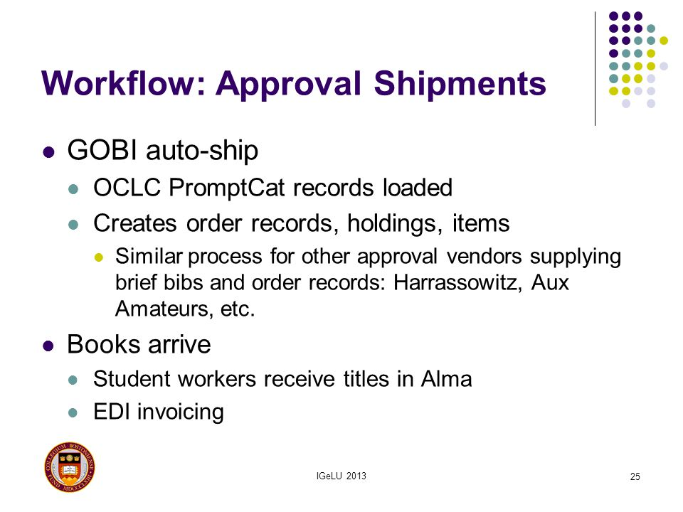 Workflow: Approval Shipments