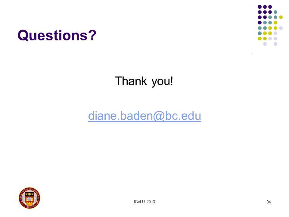 Thank you! diane.baden@bc.edu