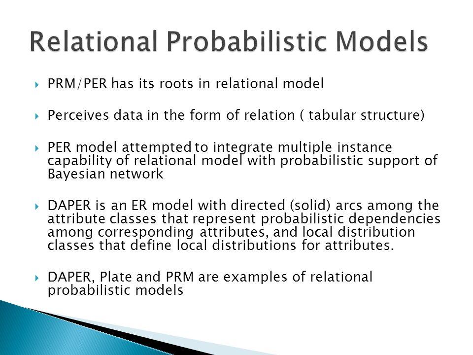 Relational Probabilistic Models