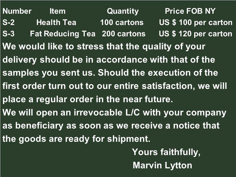 Yours faithfully, Marvin Lytton