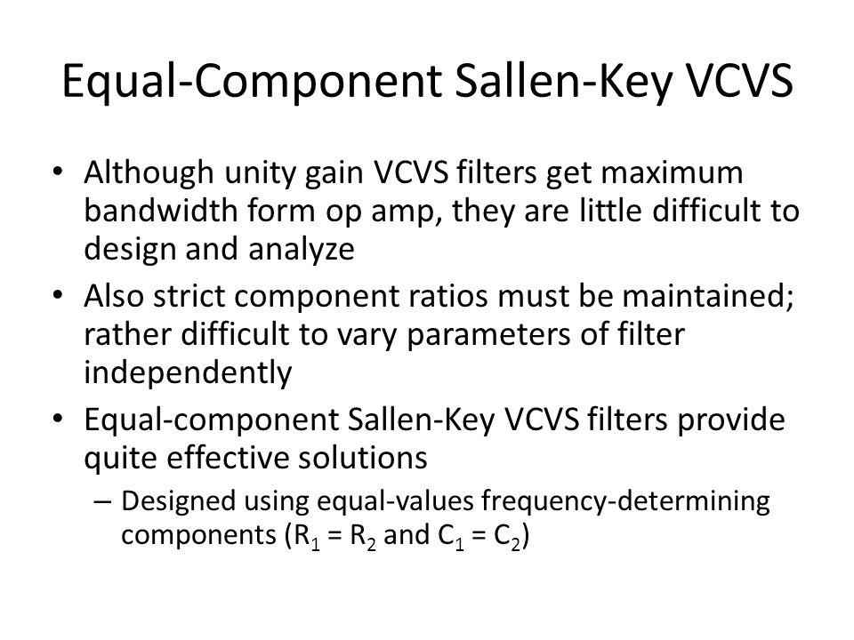 Equal-Component Sallen-Key VCVS