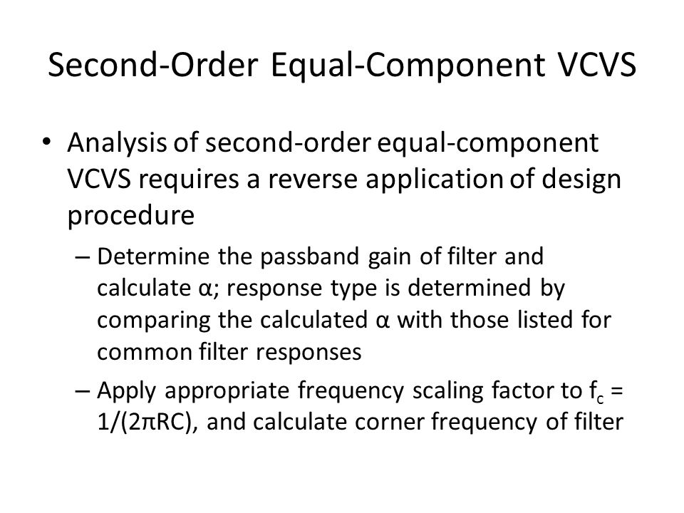 Second-Order Equal-Component VCVS