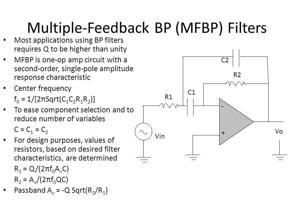 Multiple-Feedback BP (MFBP) Filters
