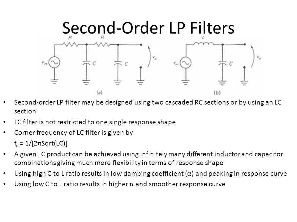 Second-Order LP Filters