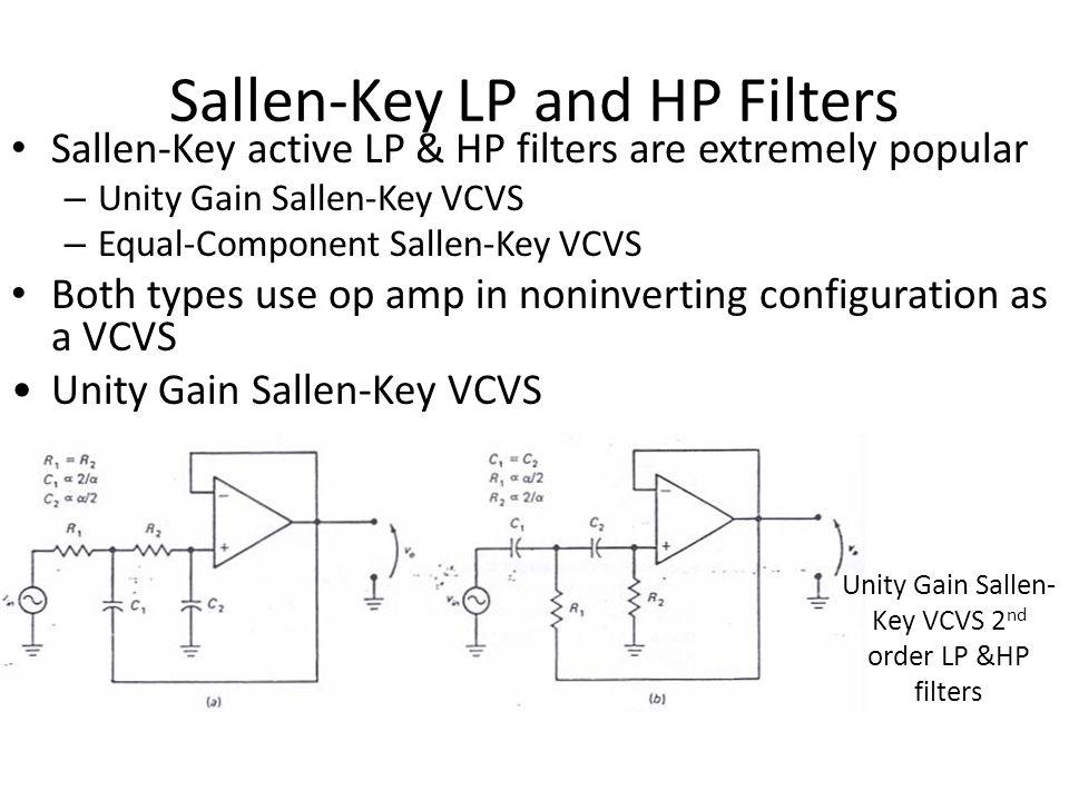 Sallen-Key LP and HP Filters