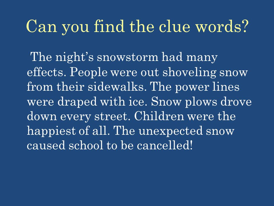 Can you find the clue words
