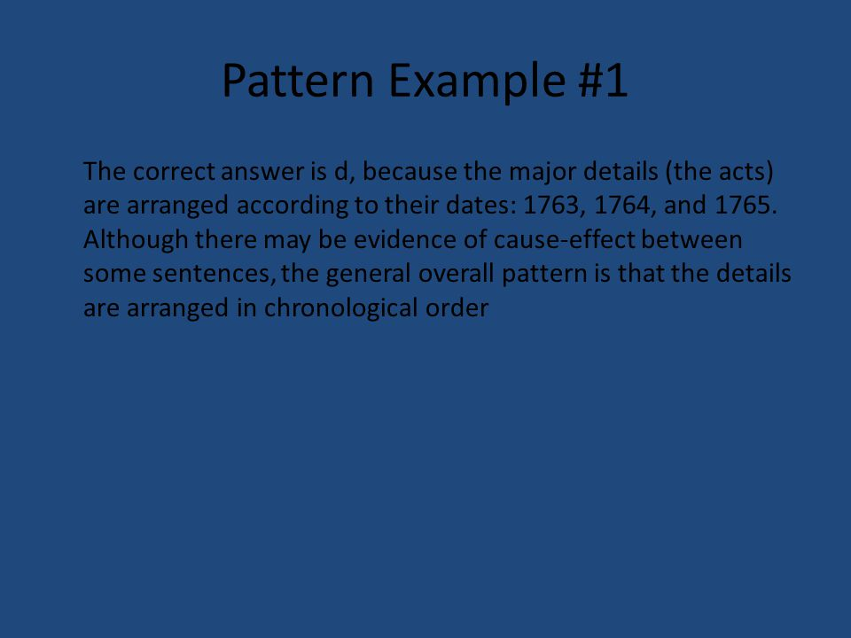 Pattern Example #1