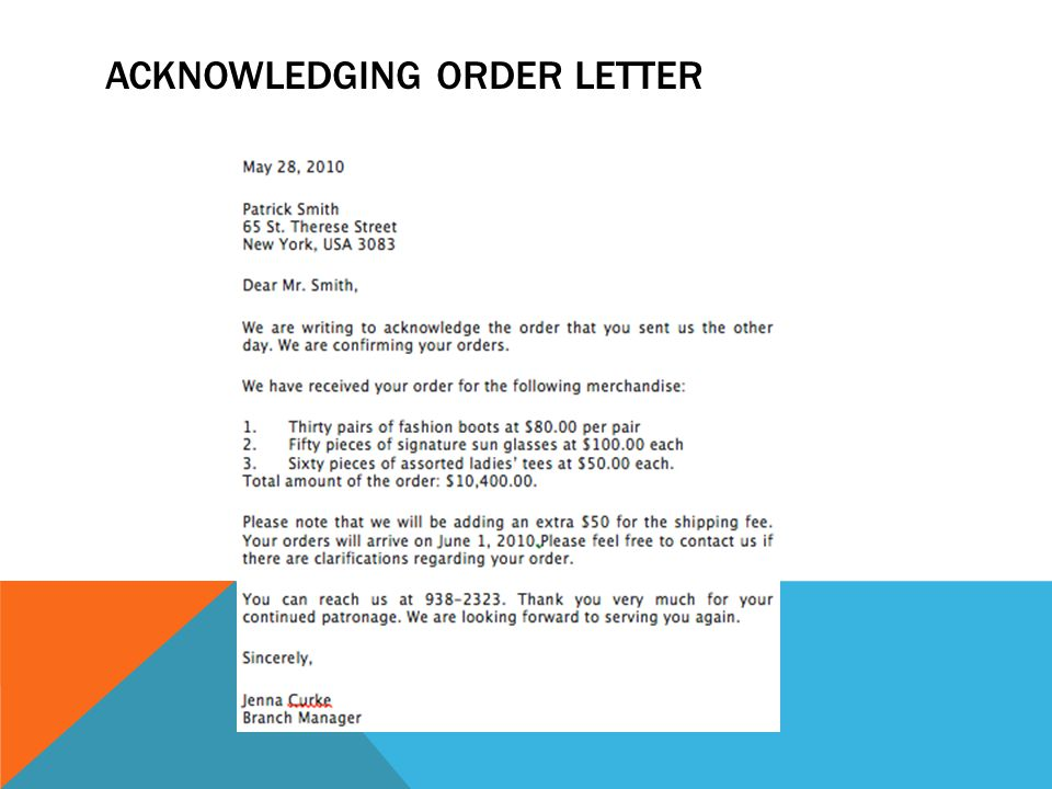 Purchase Order Letter. - Ppt Download