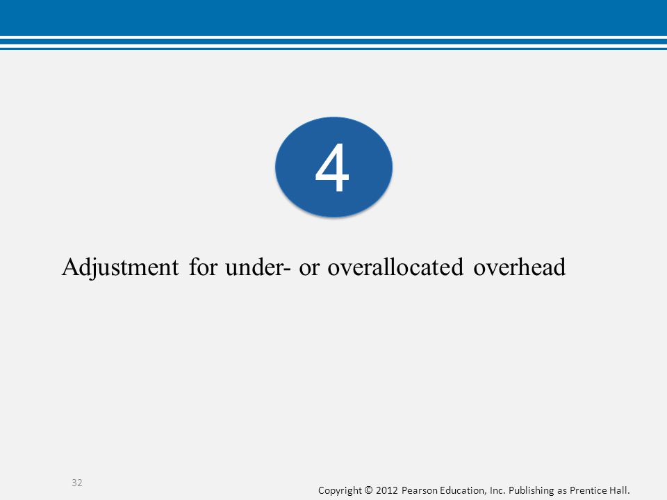 Adjustment for under- or overallocated overhead