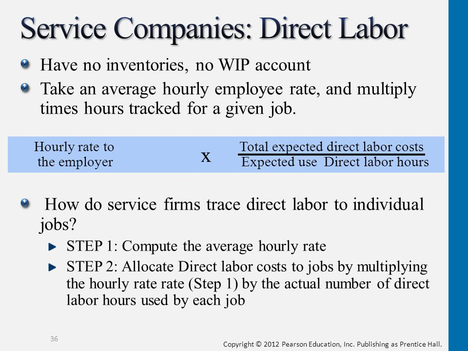 Service Companies: Direct Labor
