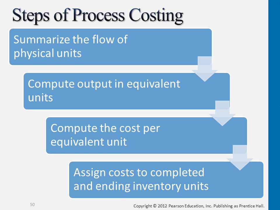 Steps of Process Costing