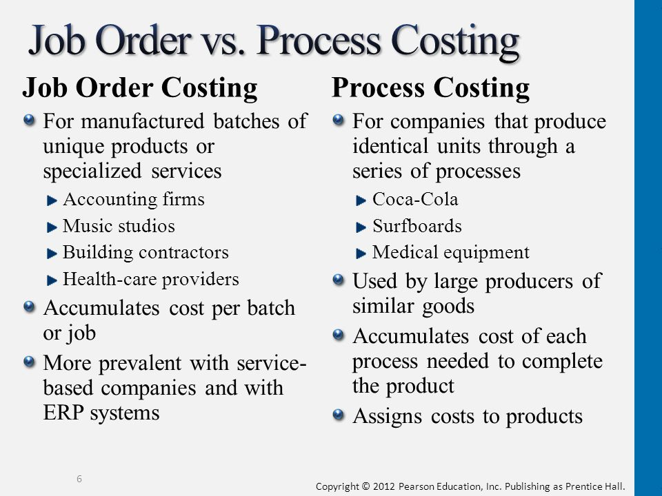 Job Order vs. Process Costing