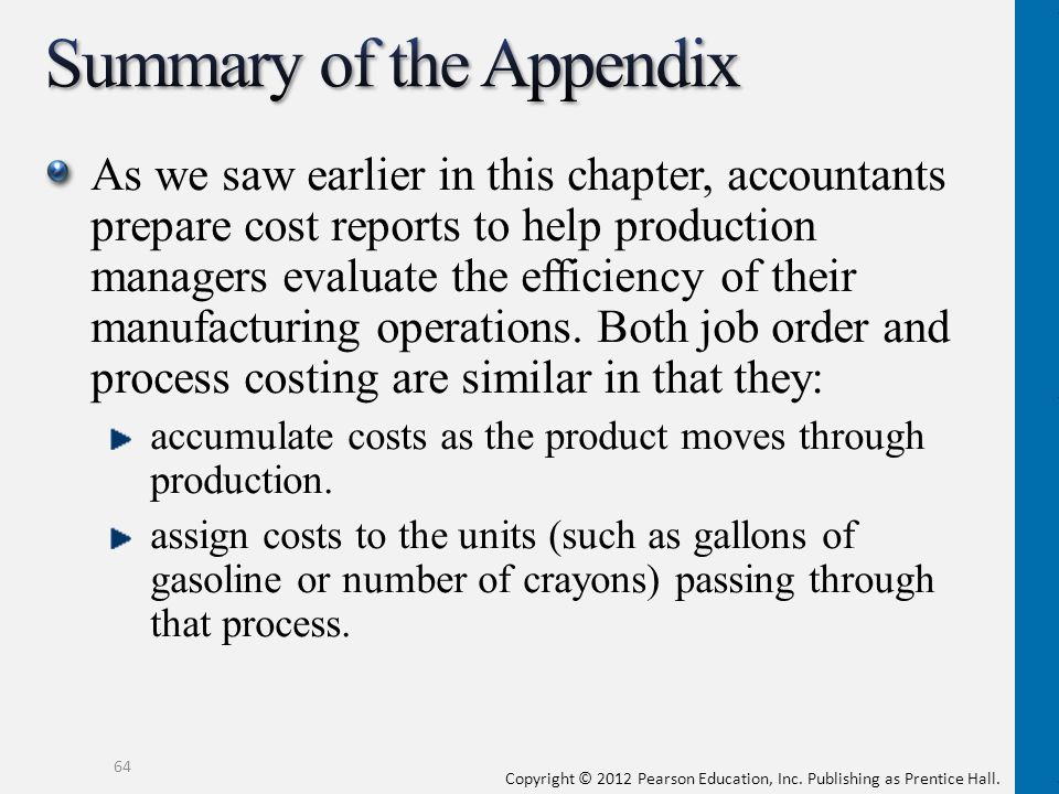 Summary of the Appendix