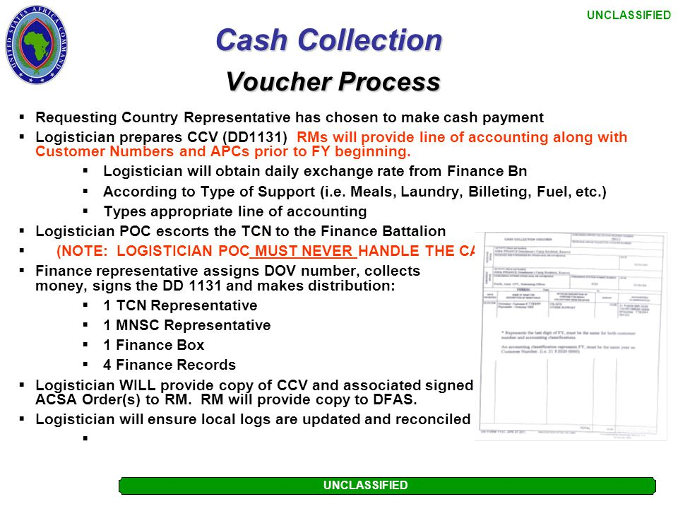 Cash Collection Voucher Process