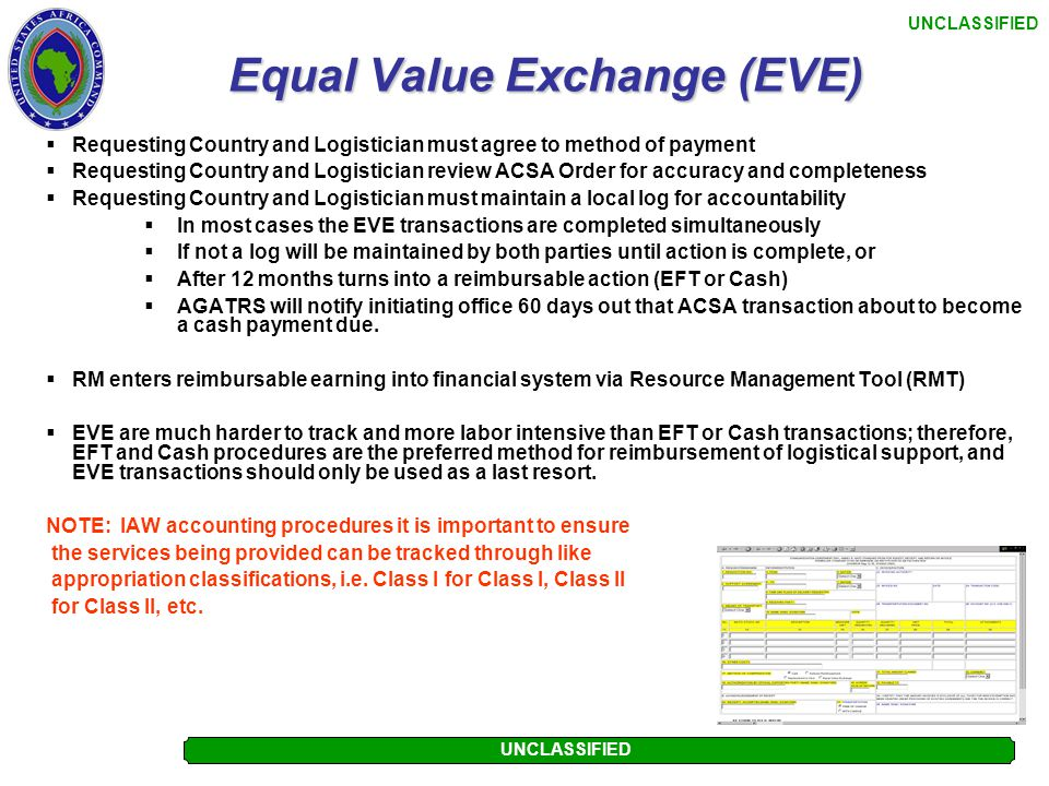 Equal Value Exchange (EVE)