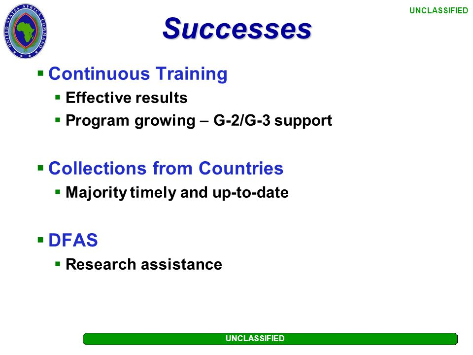 Successes Continuous Training Collections from Countries DFAS