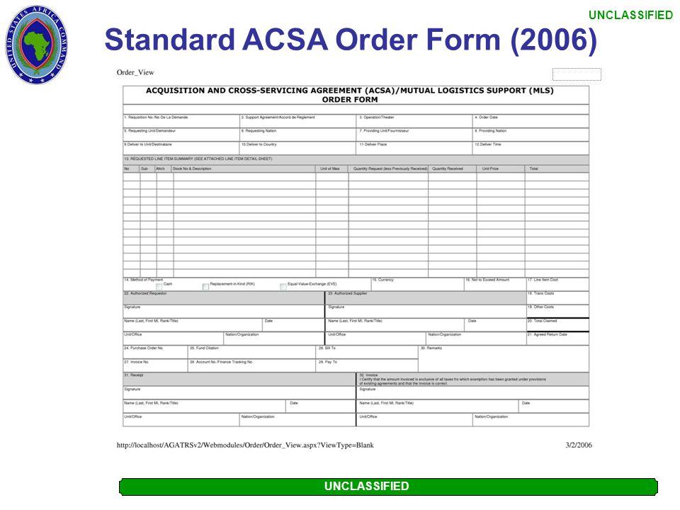 Standard ACSA Order Form (2006)