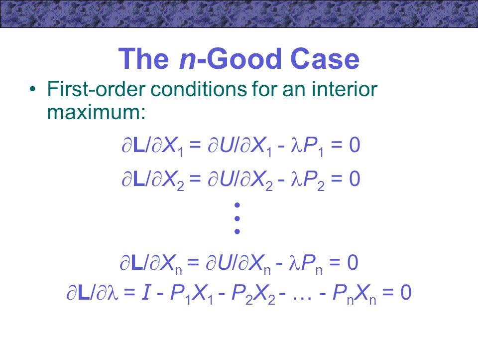 L/ = I - P1X1 - P2X2 - … - PnXn = 0