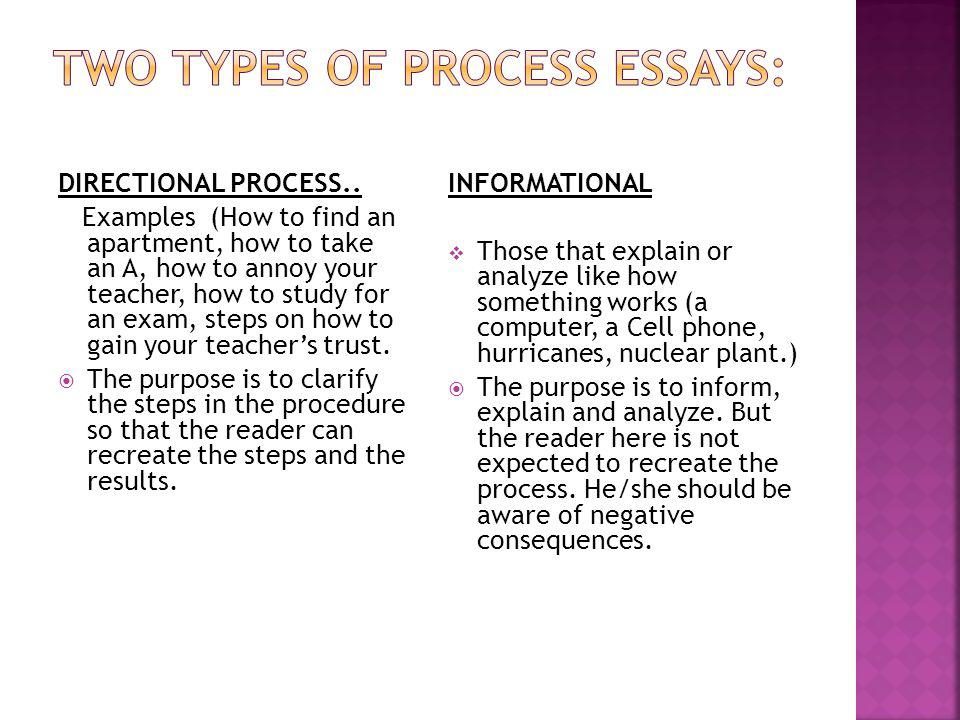 what are two types of process essays
