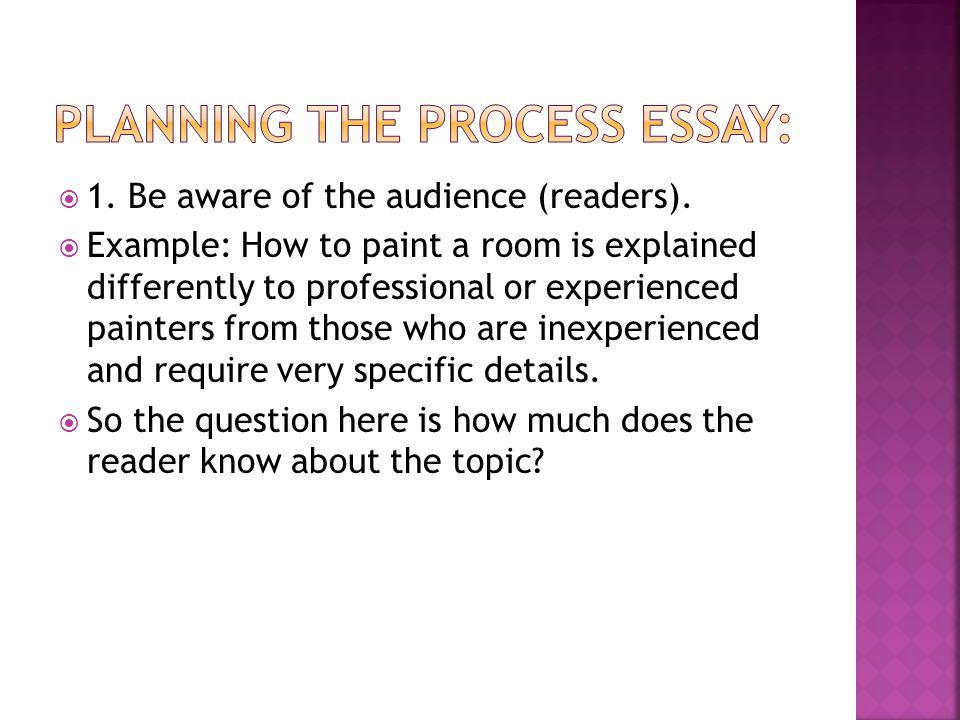 examples of a process essay