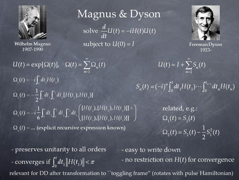 Magnus & Dyson Wilhelm Magnus. 1907-1990. Freeman Dyson. 1923-