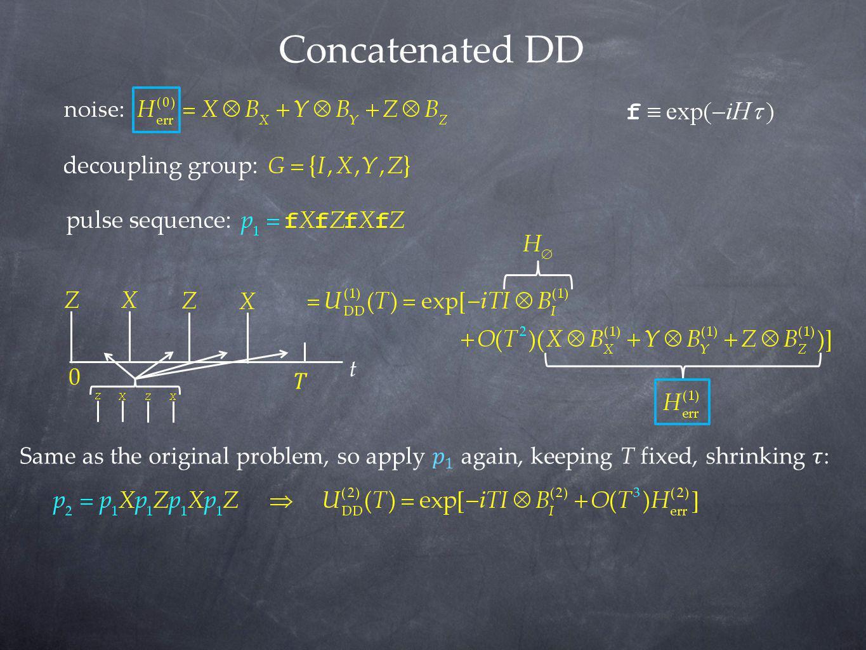 Concatenated DD t. 𝑇.