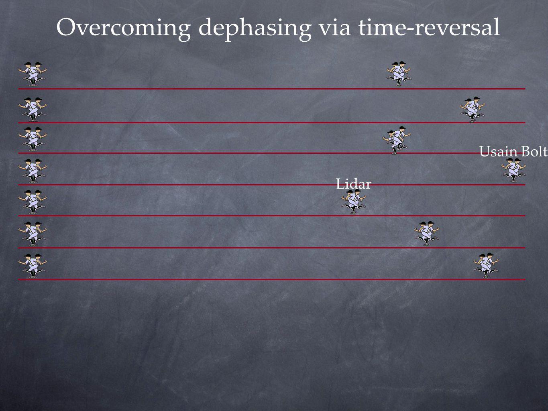 Overcoming dephasing via time-reversal