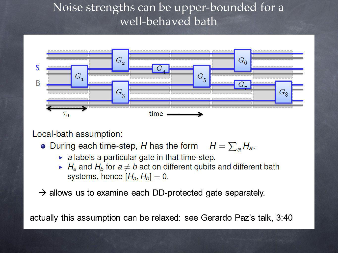 Noise strengths can be upper-bounded for a well-behaved bath