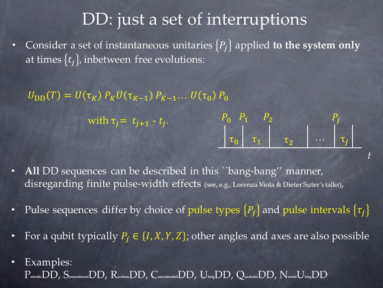 DD: just a set of interruptions