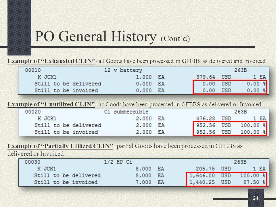 PO General History (Cont'd)