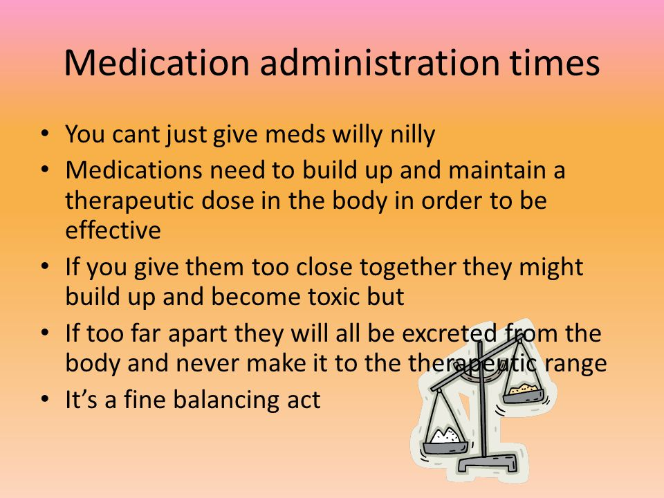 Medication administration times
