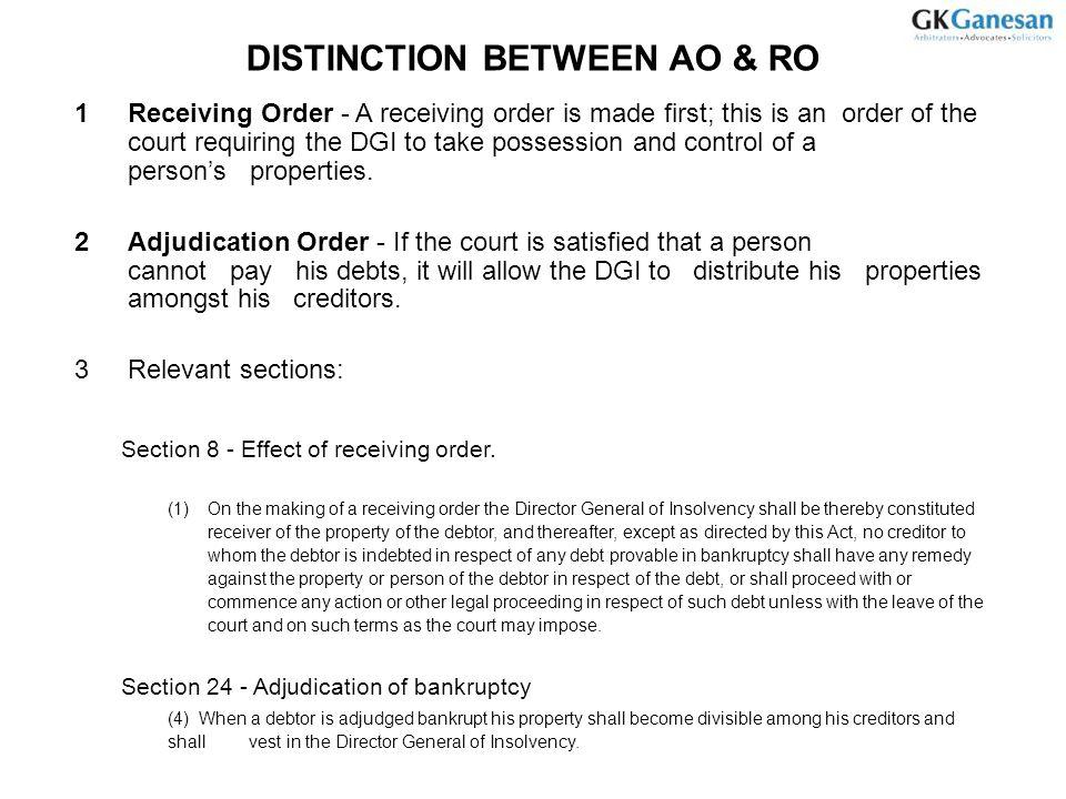 DISTINCTION BETWEEN AO & RO