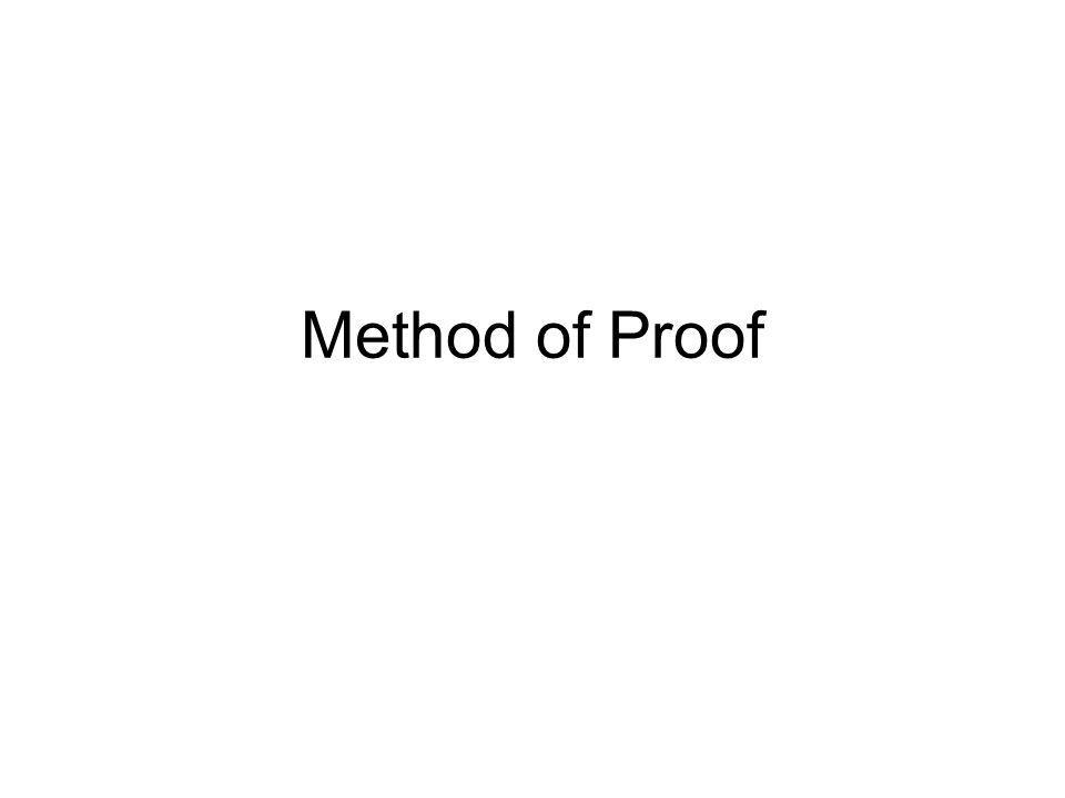 Method of Proof