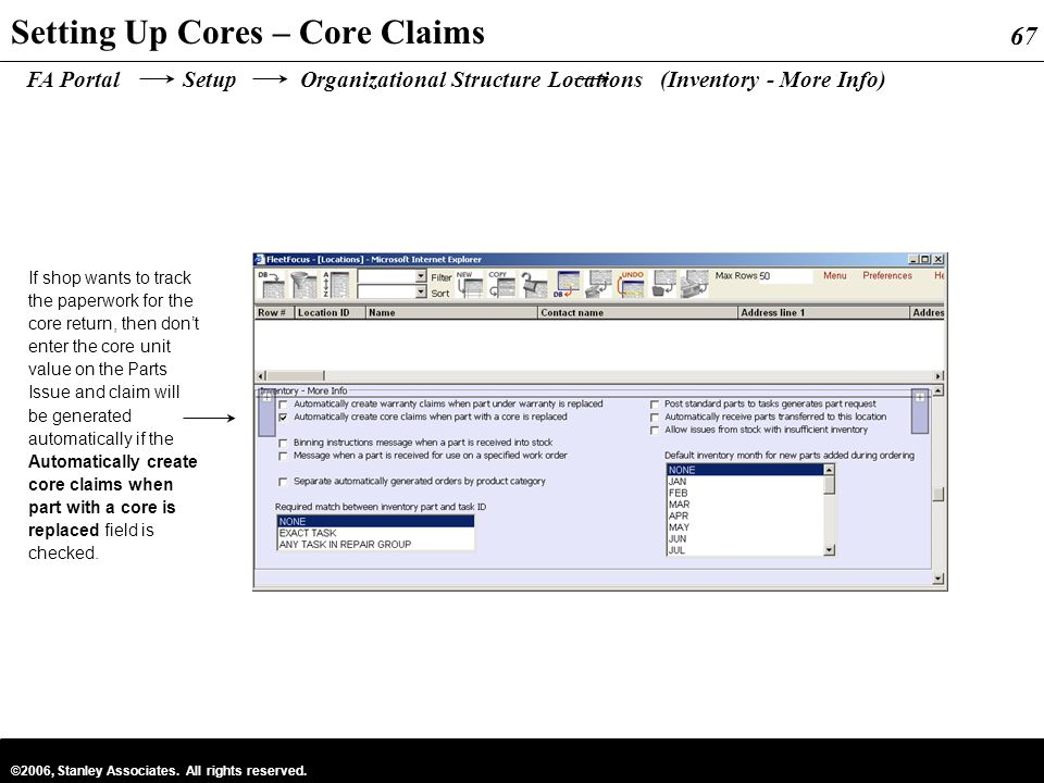 Setting Up Cores – Core Claims