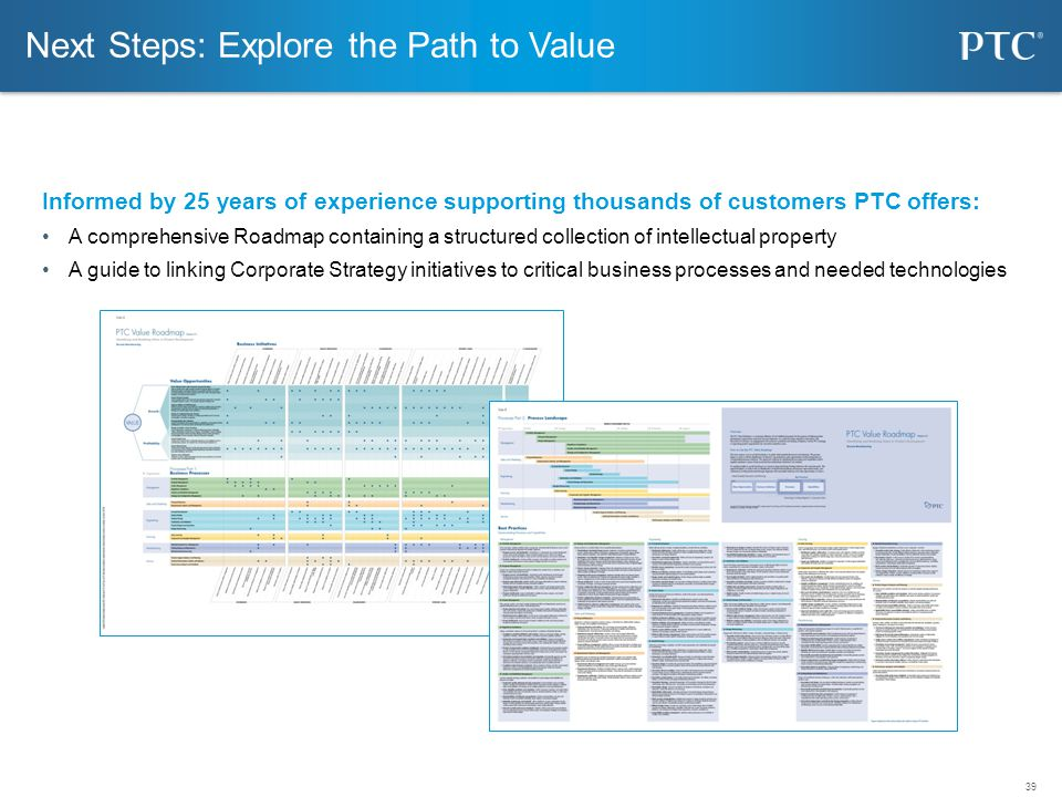 Next Steps: Explore the Path to Value