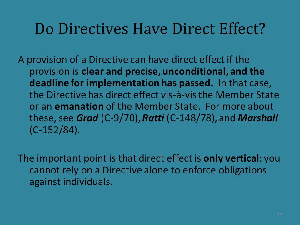 Do Directives Have Direct Effect