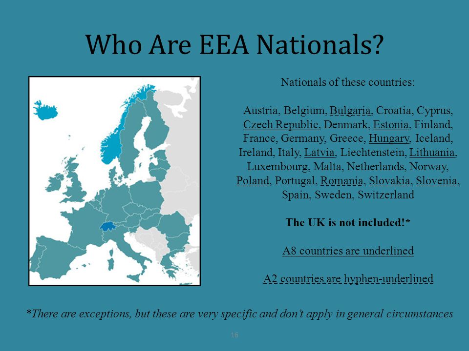 Who Are EEA Nationals Nationals of these countries: