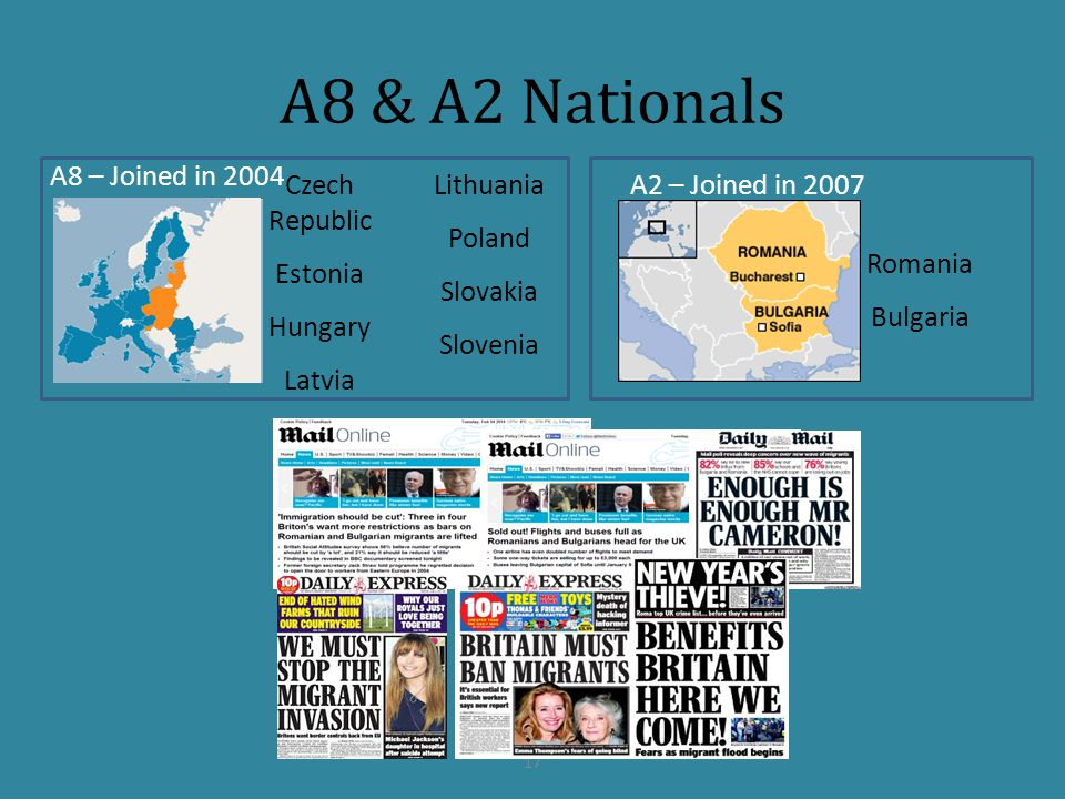A8 & A2 Nationals A8 – Joined in 2004 Czech Republic Lithuania Poland